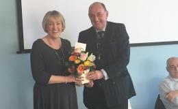 Mrs Carolyn Kirby at the AGM in May 2015